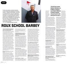 Roux School Barbey - entretien avec Eric Roux pour le journal Junkpage (mai 2018)