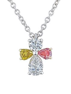 0.60 Ct Red Created Ruby 18K Rose Gold Plated Silver Angel Pendant With Chain