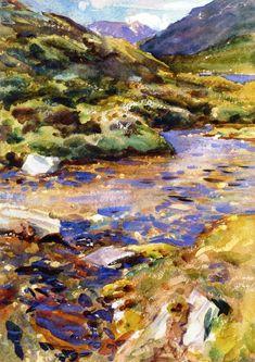 The Athenaeum - Mountain Brook (John Singer Sargent - ) 1909-1911