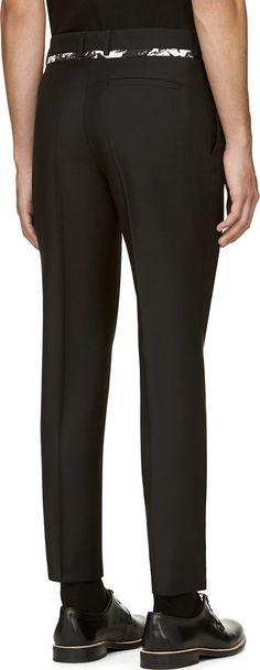 McQ Alexander Mcqueen Black Marble Trousers