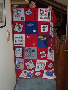 ROCK CHALK!!! All Jamie's old shirts
