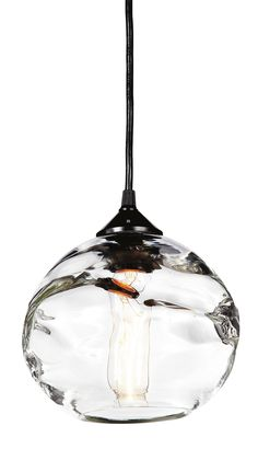 Room & Board - Glow Modern Hand-Blown Glass Pendant - Modern Pendants & Chandeliers - Modern Lighting - Hobbies paining body for kids and adult Hand Blown Glass, Glass Globe, Kitchen Lighting Fixtures, Glass Pendants, Pendant Light, Light, Glass, Modern Lighting, Blown Glass Pendant