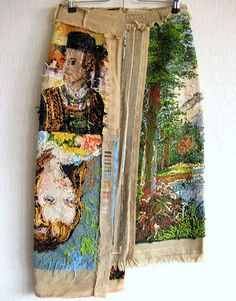 artisanal skirt made from tapestry • martin margiela