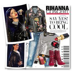 #Rihanna Concert by nikkisg on Polyvore featuring Michael Kors, Gucci, Sans Souci, Alaïa, STELLA McCARTNEY, Chanel, Valor and Rihanna