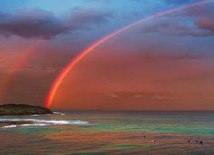 Bondi Beach rainbows - New South Wales, Australia.