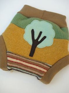 Recycled wool soaker  wool cloth diaper by LittleLeafBoutique