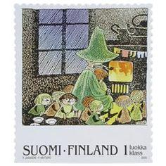Postimerkki: Muumeja - Tove Jansson, Vaarallinen juhannus | Suomen postimerkit Tove Jansson, Finland