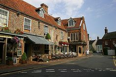 Shopping in Holt, a pretty Georgian market town, nestled in the North Norfolk countryside.