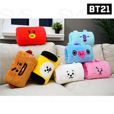 BTS Official Authentic Goods Hand Warmer Cushion By Kumhong Bts Doll, Bts Name, Taehyung Gucci, Bts Clothing, Kawaii Room, Birthday Wishes For Myself, Kpop Merch, About Bts, Bts Group
