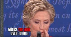 A comprehensive video has surfaced that rather convincingly shows Hillary Clinton using hand signals like a third base baseball coach to prompt moderator Lester Holt to quickly call on her to counter comments by opponent Donald Trump during Monday's first Presidential Debate. The video breaks down