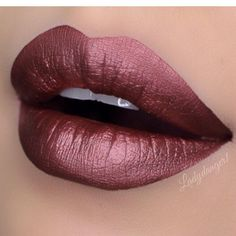 """""""@doseofcolors Metallic Liquid Matte Lipstick in TEDDY. One of three colors in the Limited Edition ~DARE TO DAZZLE TRIO~"""""""