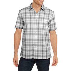 George Big Men's Short Sleeve Microfiber Shirt, Size: 2XL, White