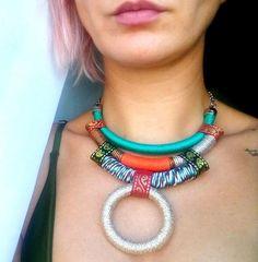Bib necklace Rope Necklace Statement Necklace Choker
