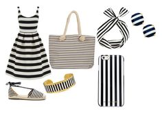 """A simple Striped Summer"" by jenniferchang527 on Polyvore featuring beauty, Warehouse, Sole Society, Évocateur, Joie, Kate Spade and MICHAEL Michael Kors"