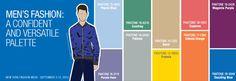 Dit zijn de modekleuren voor de mannen voor de lente van 2014.