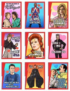 David Bowie Valentine's Day Card Pack (2018) - Matthew Lineham Art