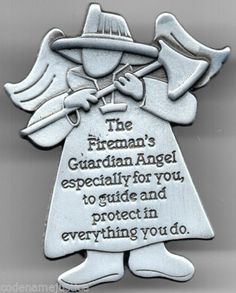STILL TIME TO GET YOUR FIREFIGHTER'S Good Luck Angel Visor Clip. This Fireman's Lucky ANGEL Metal Visor Clip is on sale with free shipping!