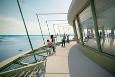 Olson Kundig has unveiled plans to renovate the Space Needle observation tower in Seattle, by adding slanted balustrades and a rotating glass floor Seattle Photos, Seattle News, Seattle Tourist Attractions, Tower Building, Bridge Design, Glass Floor, Exterior, New View, Grand Staircase
