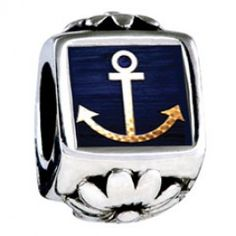 Anchor Symbol Photo Flower Charms  Fit pandora,trollbeads,chamilia,biagi,soufeel and any customized bracelet/necklaces. #Jewelry #Fashion #Silver# handcraft #DIY #Accessory