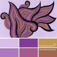 Mental Color Palette 4 - For worrying in vain   Päivi Vesala - Mental Images colouring books