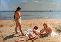 "artiebagagli: "" Laurits Tuxen - Summer Day at the Beach of Skagen """