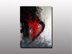 TABLEAU PEINTURE artiste peintre plas tableau abstrait rou art contemporain pei décoration toile exp - AP 01(non disponible)