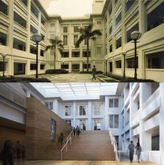 Before & After: City Hall wing, Singapore Courtyard.