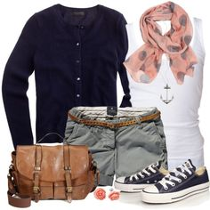 """""""Cardigan, Tank and Shorts"""" by wishlist123 on Polyvore"""