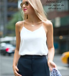 Wear to Work Outfit Ideas. Womens Casual Office Fashion ideas and dresses. Womens Work Clothes Trending in 34 Outfit ideas. Cami Top Outfit, Camisole Outfit, Tank Top Outfits, Shirt Outfit, Business Dress Code, Business Dresses, Casual Office Fashion, Work Fashion, Fashion Black