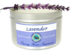 Lavender Candle  soy candles  new mom gift  by AromaScentsLLC