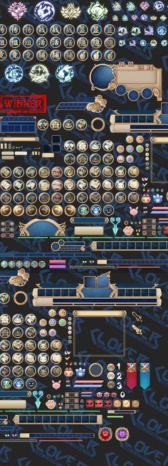 游戏美术资源 UI设计素材 Q版日系可爱...