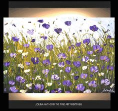 original jolinas spring collection one of a kind impasto violet poppis oil painting from listed artist jolina anthony