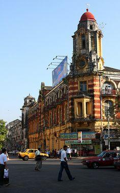 Great colonial buildings in Yangon, Myanmar