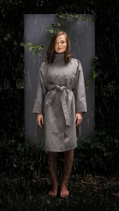 BRGN by Lunde & Gaundal, Bris Poncho, Pumice Stone Pumice Stone, Camel, Fur Coat, Raincoat, Urban, Jackets, Inspiration, Clothes, Fashion