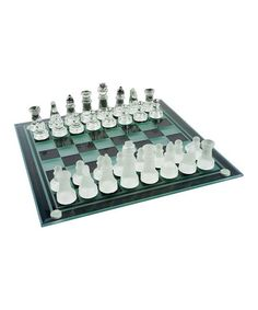 Look what I found on #zulily! Glass Chess & Checkers Set #zulilyfinds