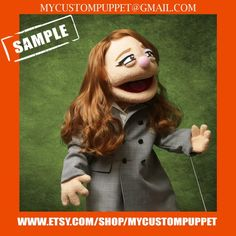 """Items similar to Custom pro puppet makers """" muppet type """" Portrait Puppet pro puppet From Your Design , photo or Ours! custom puppets , custom puppet on Etsy Professional Puppets, Custom Puppets, Puppet Making, Crazy Socks, Can Design, Retirement Gifts, Are You The One, Activities For Kids, Halloween Face Makeup"""