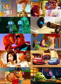 Pixar couples! <3 Buzz and Jessie