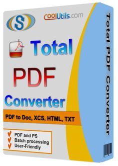 Total PDF ConverterSerialFull is an application that can change or convert PDF files to Doc, Excel, HTML,Text, CSV or images (TIFF, JPEG).Registered users