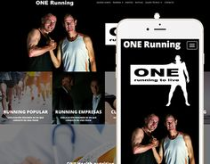 WordPress design for a running campaign led by a world champion. http://onerunning.es #UX #UI #webdesign #wordpress #wpdesign #running