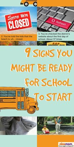 9 Signs You Might Be Ready For School to Start | More LOLs & Funny Lists for Moms | back to school parenting humor by @RobynHTV on NickMom