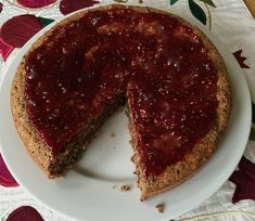 Chocolate-Almond-Coconut Cake with Raspberry Topping (no flour) from Mollie Katzenjammer