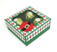 Caixa de Natal com Ferrero Rocher Scrap
