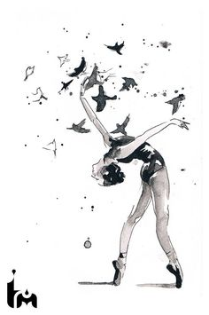 Discover recipes, home ideas, style inspiration and other ideas to try. Ballet Painting, Dance Paintings, Ballet Art, Ballet Dancers, Ballet Drawings, Dancing Drawings, Art Drawings Sketches, Tatoo Art, Body Art Tattoos