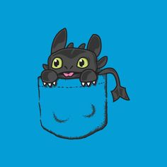 Pocket Toothless ... How to train your dragon, toothless, night fury, dragon