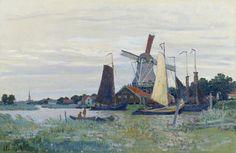 Un Moulin à Zaandam (C Monet - W 171)