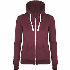Wine Plain Hoodie Zip Up  | eBay Price: $21.00 with shipping