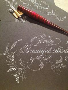 Flourish Calligraphy, Calligraphy Cards, Copperplate Calligraphy, Calligraphy Handwriting, Calligraphy Alphabet, Penmanship, Modern Calligraphy, Caligrafia Copperplate, Arte Quilling