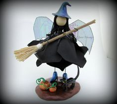 Hey, I found this really awesome Etsy listing at https://www.etsy.com/listing/242747384/halloween-witch-halloween-ornament-fairy