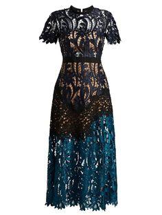 Mindy Embroidered Lace Midi Dress