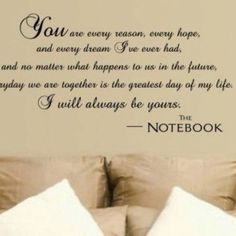 I love this #Notebook #love #quote too.